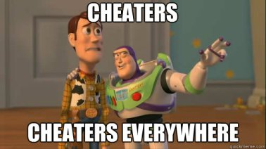 cheaters everywhere