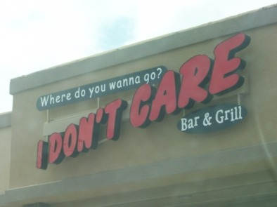 I don't care restaurant